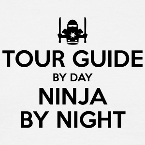 tour guide day ninja by night - Men's T-Shirt