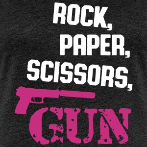 rock, paper, scissors, gun T-Shirts - Frauen Premium T-Shirt