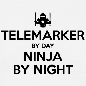telemarker day ninja by night - Men's T-Shirt