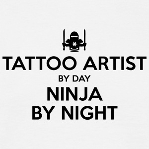 tattoo artist day ninja by night - Men's T-Shirt