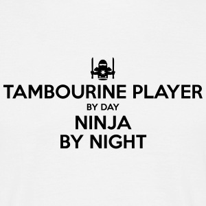 tambourine player day ninja by night - Men's T-Shirt