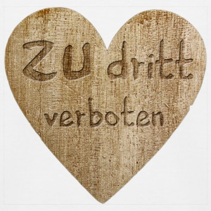 Love - zu dritt verboten T-Shirts - Kinder Baseball T-Shirt