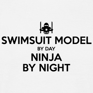swimsuit model day ninja by night - Men's T-Shirt