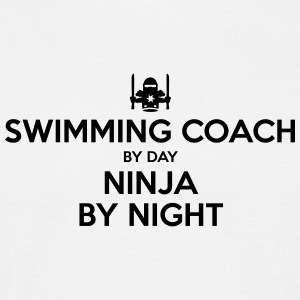 swimming coach day ninja by night - Men's T-Shirt