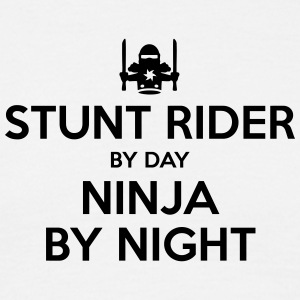 stunt rider day ninja by night - Men's T-Shirt