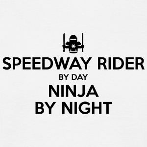 speedway rider day ninja by night - Men's T-Shirt