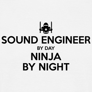 sound engineer day ninja by night - Men's T-Shirt