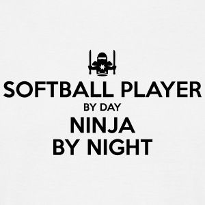 softball player day ninja by night - Men's T-Shirt