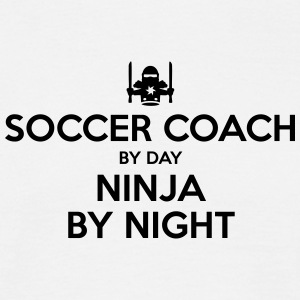 soccer coach day ninja by night - Men's T-Shirt