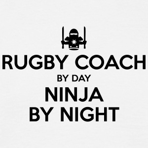 rugby coach day ninja by night - Men's T-Shirt