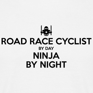 road race cyclist day ninja by night - Men's T-Shirt