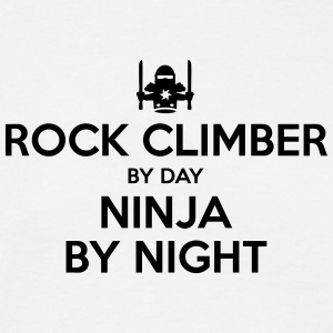 rock climber day ninja by night - Men's T-Shirt