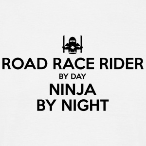 road race rider day ninja by night - Men's T-Shirt