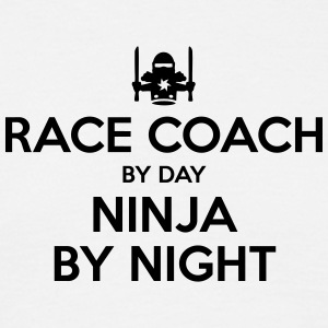 race coach day ninja by night - Men's T-Shirt