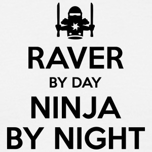raver day ninja by night - Men's T-Shirt