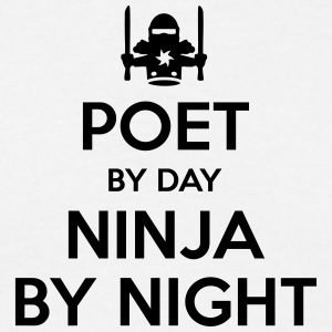 poet day ninja by night - Men's T-Shirt