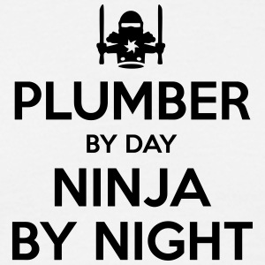 plumber day ninja by night - Men's T-Shirt