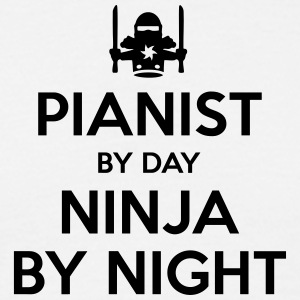 pianist day ninja by night - Men's T-Shirt