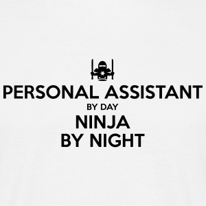 personal assistant day ninja by night - Men's T-Shirt