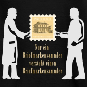 briefmarkensammler_11_2016_white01 T-Shirts - Kinder T-Shirt
