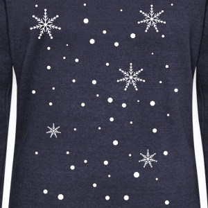 Snowy day snowflakes Women's Boat Neck Long Sleeve - Women's Boat Neck Long Sleeve Top