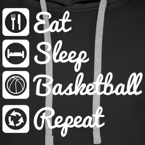 Eat sleep basketball,Basket Sweat-shirts - Sweat-shirt à capuche Premium pour hommes