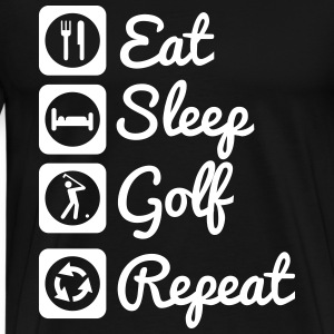 Eat,sleep,golf,repeat - Men's Premium T-Shirt