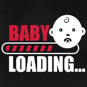 baby loading - funny pregnancy T-shirts - Vrouwen Premium T-shirt
