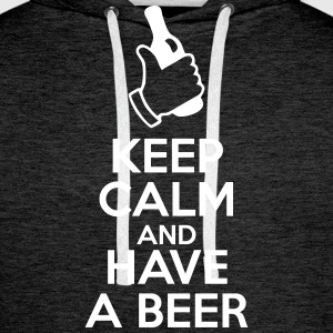 Keep Calm and Have a Beer - Männer Premium Hoodie