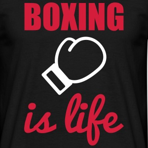 BOXING IS LIFE - Männer T-Shirt