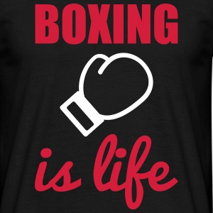 Boxing is life  T-shirts - T-shirt herr