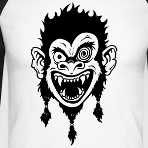 Crazy Monkey Long sleeve shirts - Men's Long Sleeve Baseball T-Shirt