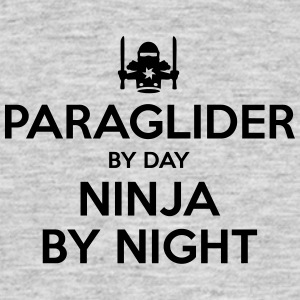 paraglider day ninja by night - Men's T-Shirt