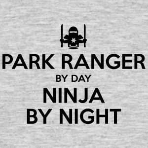 park ranger day ninja by night - Men's T-Shirt
