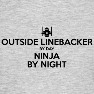 outside linebacker day ninja by night - Men's T-Shirt