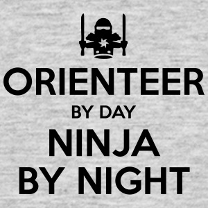 orienteer day ninja by night - Men's T-Shirt
