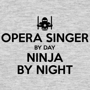 opera singer day ninja by night - Men's T-Shirt