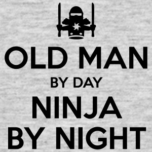 old man day ninja by night - Men's T-Shirt