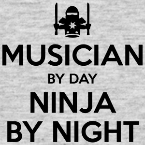 musician day ninja by night - Men's T-Shirt