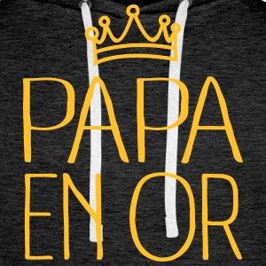 Papa En Or Sweat-shirts - Sweat-shirt à capuche Premium pour hommes