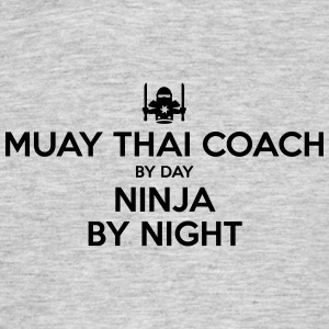 muay thai coach day ninja by night - Men's T-Shirt