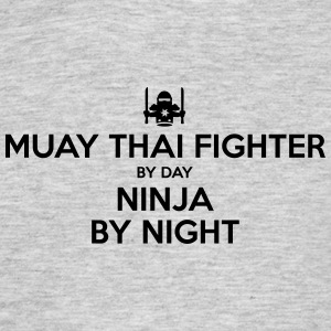 muay thai fighter day ninja by night - Men's T-Shirt