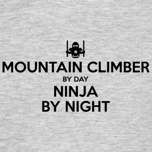 mountain climber day ninja by night - Men's T-Shirt