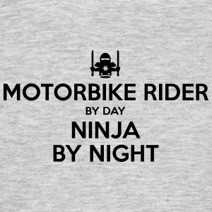 motorbike rider day ninja by night - Men's T-Shirt