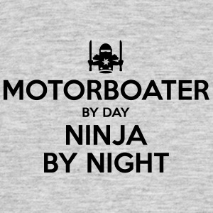 motorboater day ninja by night - Men's T-Shirt