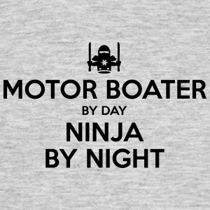 motor boater day ninja by night - Men's T-Shirt