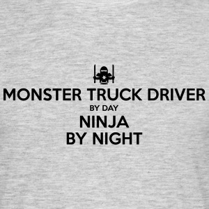 monster truck driver day ninja by night - Men's T-Shirt