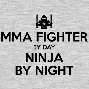 mma fighter day ninja by night - Men's T-Shirt