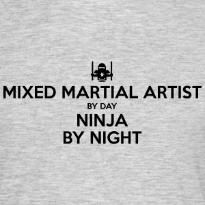 mixed martial artist day ninja by night - Men's T-Shirt