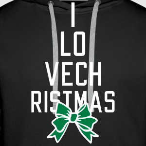 I love Christmas Hoodies & Sweatshirts - Men's Premium Hoodie